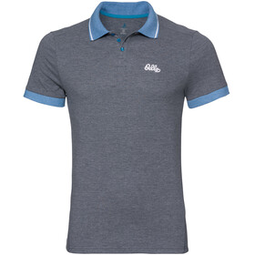 Odlo Nikko Polo manches courtes Homme, diving navy melange